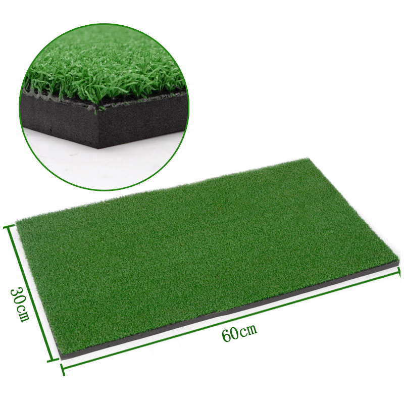 2020 Indoor Golf Training Aids Golf Mat Training Hitting Pad Practice Rubber Grass Mat Green Golf Training Tool Backyard 30x60cm