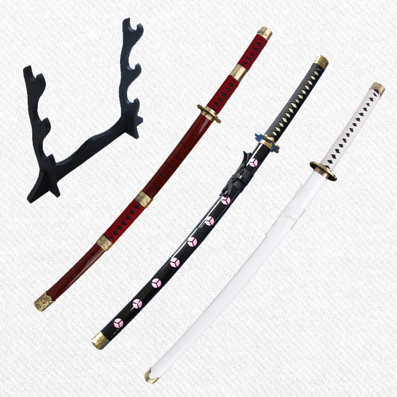 One Piece Anime Zoro Swords Carbon Steel Unsharp For Home Decoration Three Styles Japanese Cosplay Katana