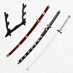 One piece Anime Zoro Swords carbon steel unsharp for home decoration three styles Japanese cosplay Katana