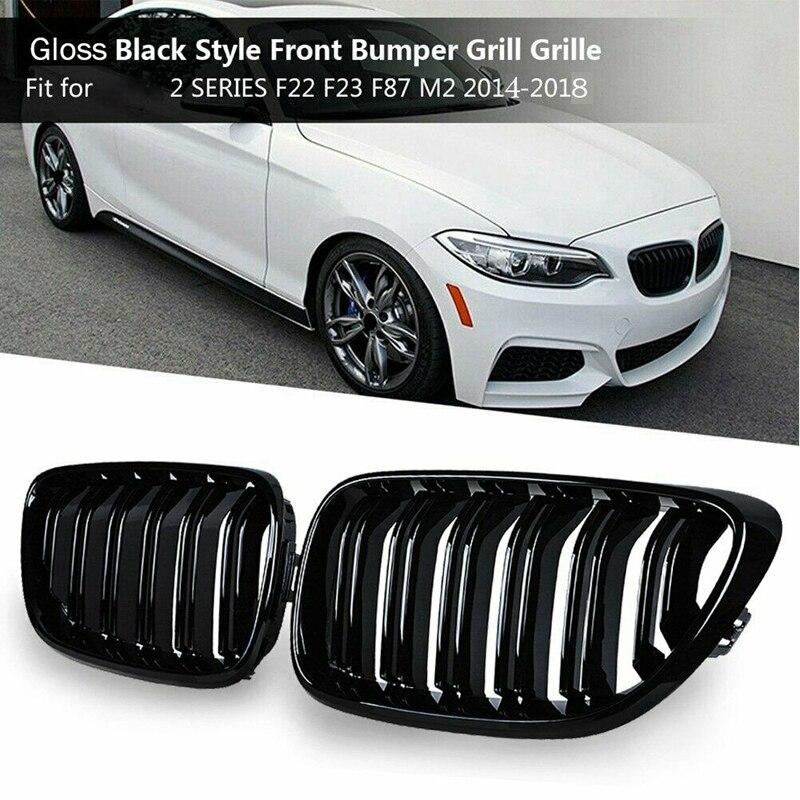 Гриль передний бампер почечная двойная линия решетка Спортивная для BMW M2 F87 F22 F23