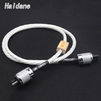 Haldane HFI Nordost Odin US/EU AC Power Cable Cord CD Amplifier Player Audio Power Cable Line with Carbon Fiber US EU Power Plug