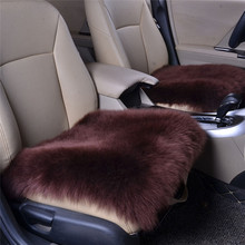 Car Seat Cover Sheepskin Wool Car Seat Cushion Fur Wool Chair Pad