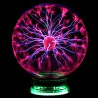 Novedad Bola de Plasma mágica de cristal 3 4 5 6 pulgadas luces de mesa esfera luz nocturna niños regalo para Año Nuevo lámpara de noche de Plasma mágico