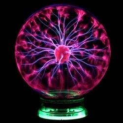 Novidade vidro magia plasma bola luz 3 4 5 6 polegada luzes de mesa esfera nightlight crianças presente para o ano novo magia plasma noite lâmpada