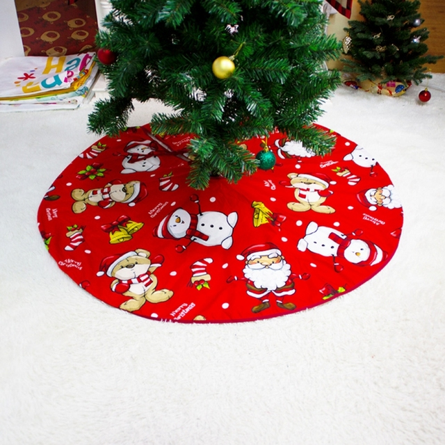 2021 Christmas Tree Skirt Santa Claus Elk Round Carpet Christmas Decorations For Home Party Office Floor Mat New Year Decor 2
