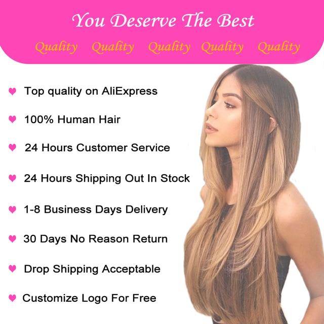 Brazylijski kolor Ombre ludzki włos peruka wstępnie oskubane proste włosy ludzkie koronkowe peruki 150 gęstość Remy 13*4 koronki przodu blond kolor peruka