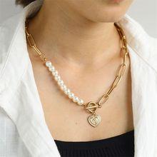 Zovooli винтажное жемчужное металлическое Смешанное ожерелье