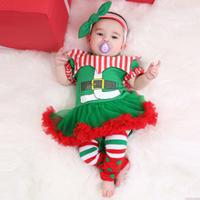 Baby Girl Christmas Dress Merry Kids Cotton Girls Happy New Year Tutu Costume Toddler Outfits