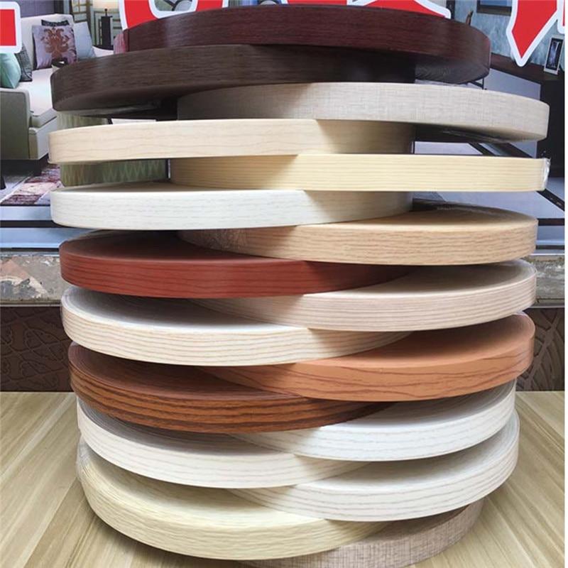 Self Adhesive Furniture Wood Veneer Decorative Edge Banding PVC For Furniture Cabinet Office Table Wood Surface Edging 10m/20m