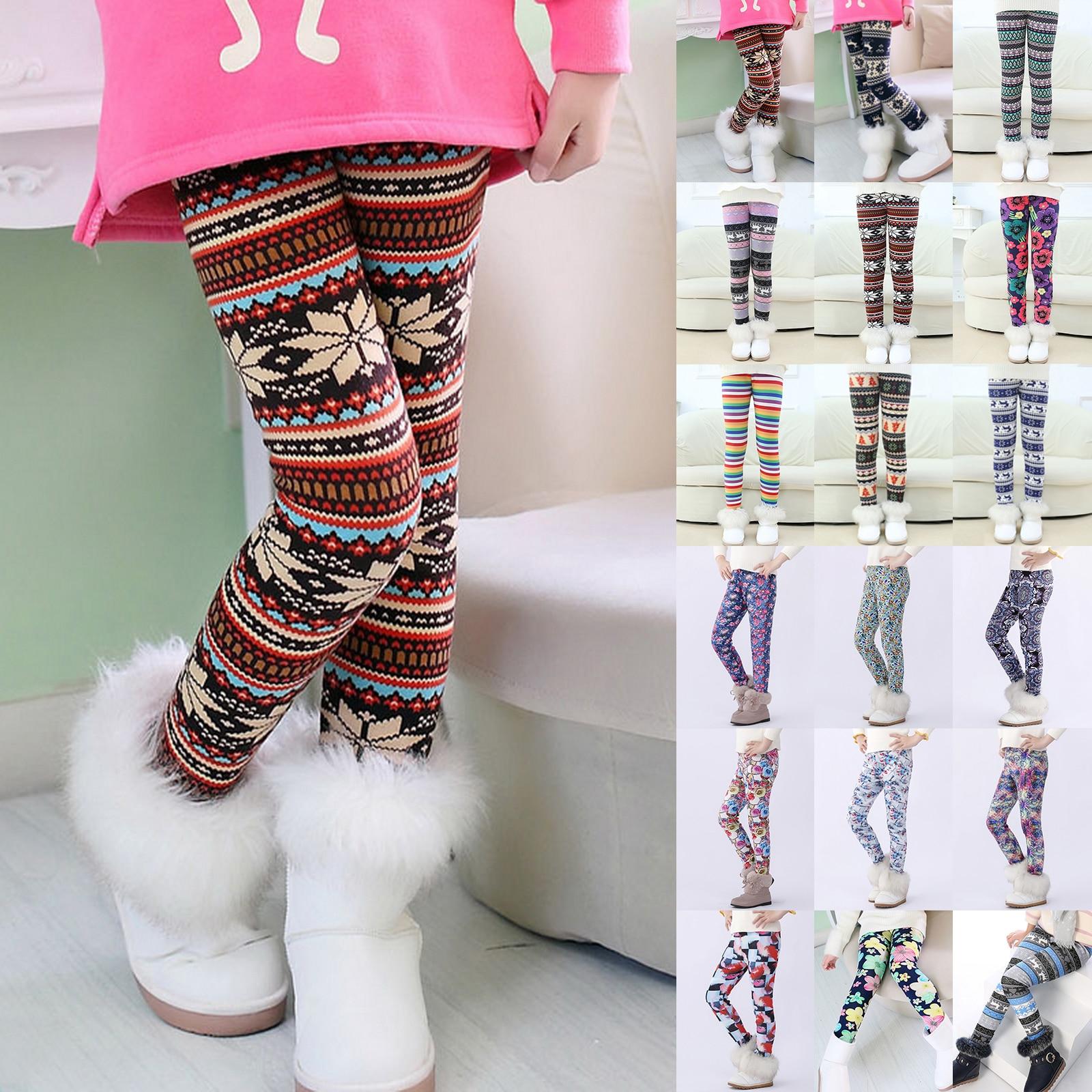 Velvet Keep Warm Children Leggings Kids Stockings Thermal Trousers Girls Pants