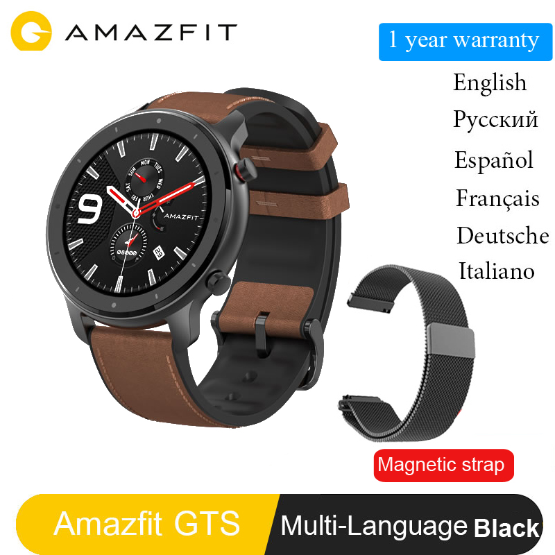 In Stock Global Version New Amazfit GTR 47mm Smart Watch 5ATM Smartwatch 12Days Battery Music Control For Android IOS image