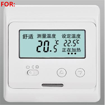Plumbing Temperature Control Panel Electric Floor Heating Thermostat Switch Electric Film Heating Cable Wall Heating