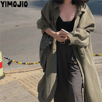 Trench coat Long Spring women Casual Slim for Elegant Outside X-long Skirt Streetwear Youngth