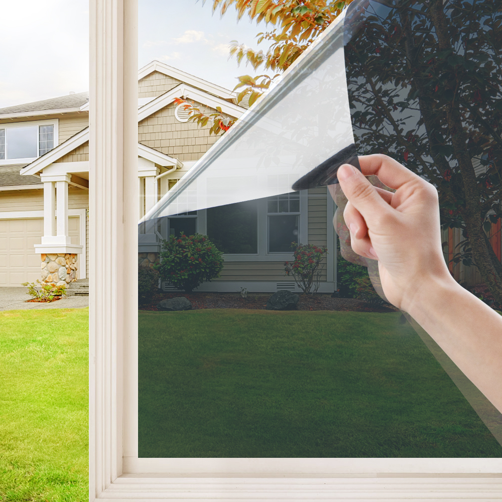 50/60/70/80/90cm Large solar film one-way mirror window film anti-ultraviolet self-adhesive privacy protection film