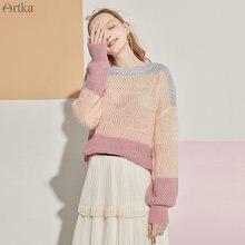 Artka 2020 осенний Новый женский свитер элегантный разноцветный