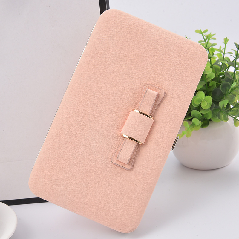 2020 New Korean version of the women's wallet long mobile phone bag bow lunch box female bag tide