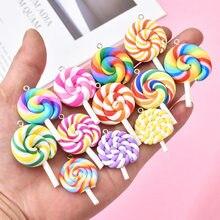 10 sztuk/partia śliczne Lollipop Charms zawieszki dla handmade dekoracje bransoletki naszyjnik kolczyk breloczek tworzenia biżuterii szczęście urok