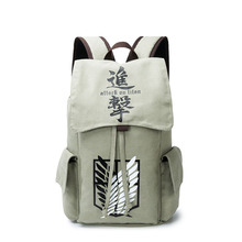 Canvas Attack On Titan Totoro Death Note Tokyo Ghoul Naruto School Bag Backpack Male/female Sac A Dos Travel Backpack Rucksack