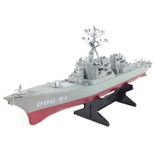 Guided Missile Destroyer Ship Model Static Toys with Display Stand Warship Model DIY Educational Toys Hobbies Children Gift