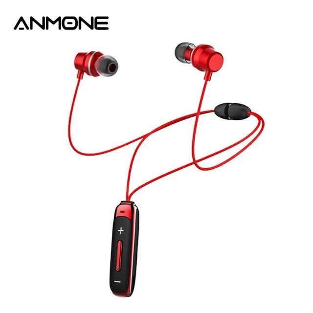 ANMONE BT315 Bluetooth אוזניות ב אוזן אלחוטי אוזניות עם מיקרופון בס ספורט מגנטי אפרכסת באוזן אוזניות עבור נייד טלפונים