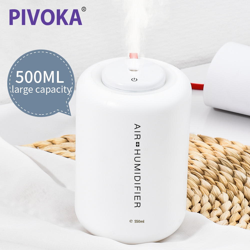PIVOKA 500ML USB Electric Aroma Air Diffuser Ultrasonic Air Humidifier Essential Oil Aromatherapy Cool Mist Maker For Home