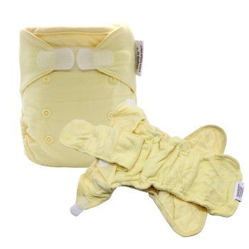 Pop In Cloth Diapers Baby Diapers AI2 Washable Reusable Waterproof Nappy Diaper Cover 2 Bamboo Cotton Inserts One Size Newborn