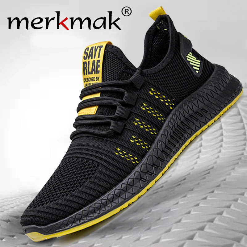 Merkmak Lac-up  Mesh Men Sneakers Casual Shoes Men Shoes Lightweight Comfortable Breathable Walking Sneakers Air mesh Shoes