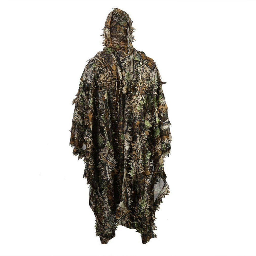 Cloak Dress Hunting Clothes 3D Maple Leaf Bionic Ghillie Yowie Sniper Birdwatch Airsoft Camouflage Clothing Jacket