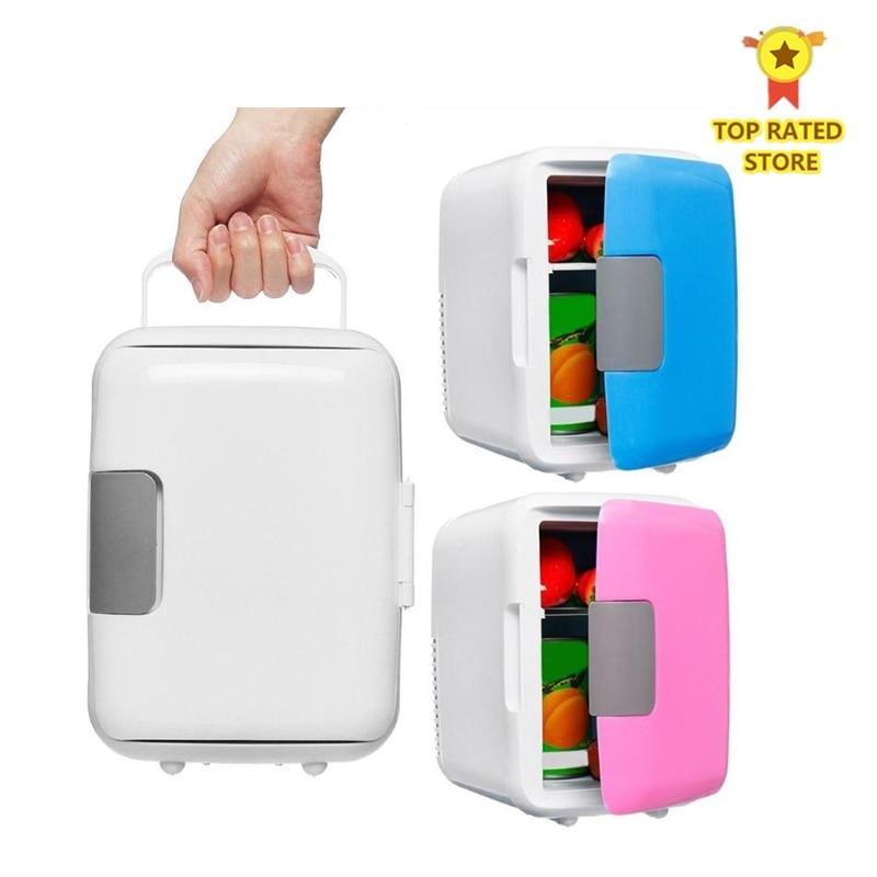 Dual-Use 4L Car & Home Refrigerators Ultra Quiet Low Noise Car Mini Refrigerators Travel Freezer Cooling Heating Box Fridge