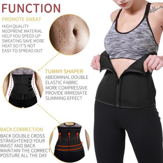 Women Body Shaper Belt Waist Trainer Neoprene Sweat Shapewear Slimming Sheath Belly Reducing Shaper Workout Trimmer Belt Corset 2