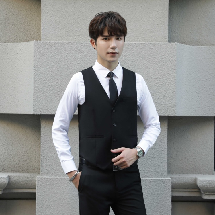 Best Man Clothing MEN'S Waistcoat Shirt Suit Pants Three-piece Set-Spring And Autumn Slim Fit Vest Marriage Groom Brothers' Grou