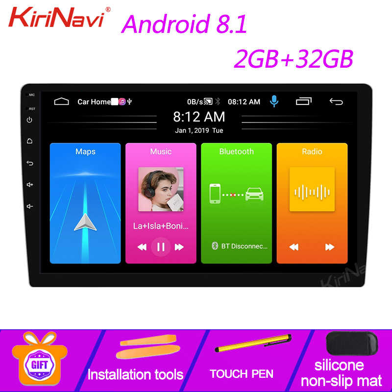 "KiriNavi 9 ""10,1"" Android 9.0 Auto Dvd Multimedia Player Auto Radio Für Universal Android Auto GPS-Navigation Bluetooth WIFI 4G"