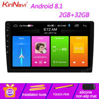 KiriNavi 9 10.1 Android 9.0 Car Dvd Multimedia Player Car Radio For Universal Android Auto GPS Navigation Bluetooth WIFI 4G