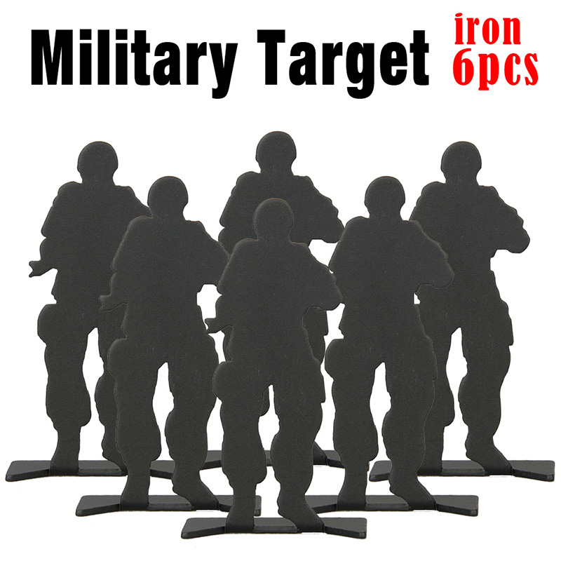 Iron Black 80x33mm Shooting Metal Airsoft Target (6pcs/pack) Paintball Accessories  Packs Practicing/Hunting/ Airsoft PP33-0027