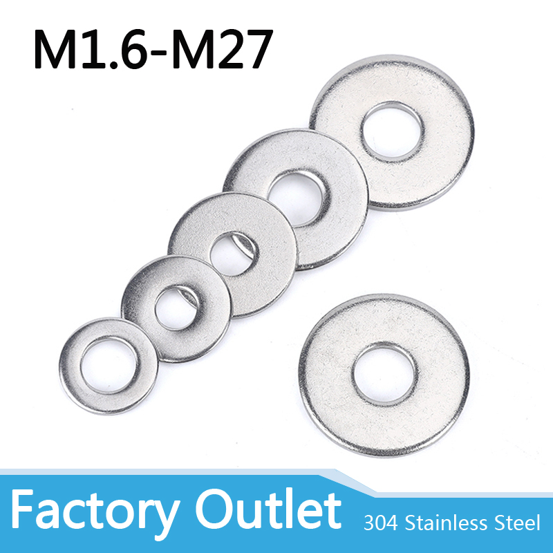 GB97, A2 espaceur de lavage en acier inoxydable 304, joints lisses pour boulon à vis, métal plat m3wash