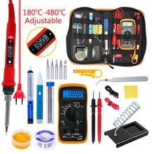 Temperatura Kit de soldadura eléctrico de hierro 110V 220V 80W hierro kit de soldadura con multímetro de herramienta de soldadura Kits