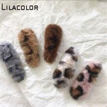 Lilacolor Faux Fur Leopard Hair Clip Women Accessories Triangle Barrettes Girls Fashion Hairpin Headwear Korea Plush Cute