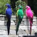 25 センチメートル手作り人工オウムクリエイティブ羽芝生置物装飾動物鳥ガーデン鳥小道具装飾