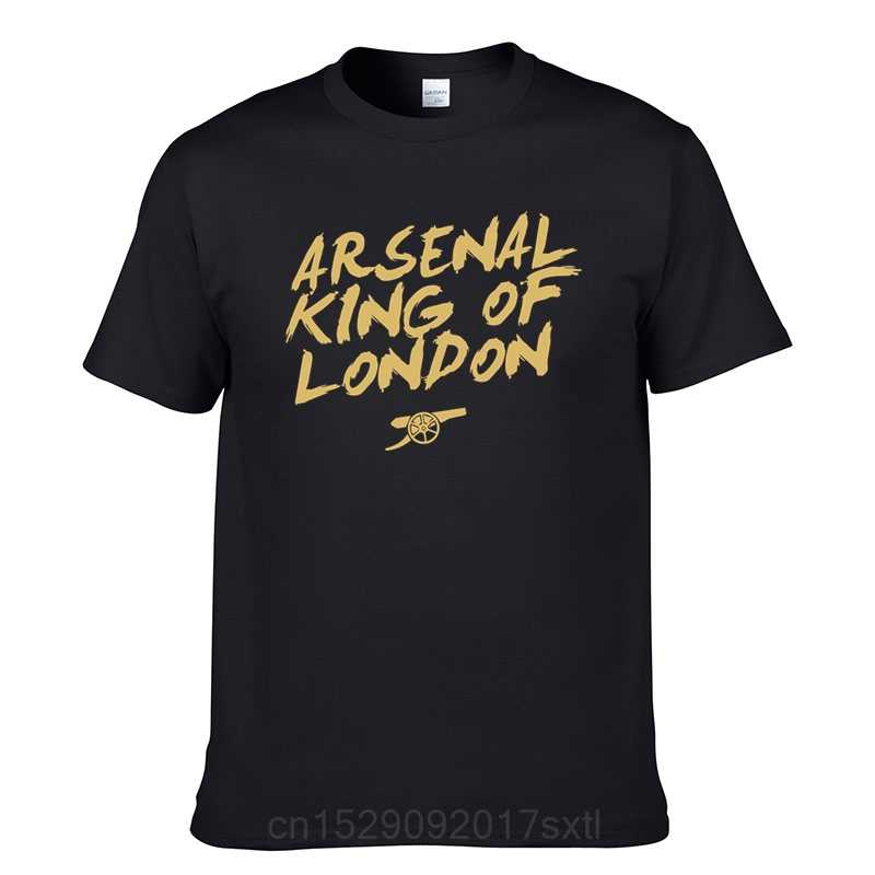 Arsenal T-Shirt King of London T-Shirt Men's Cotton T-Shirt Summer TShirt New Streetwear Harajuku Tshirt Top Tee Dropshipping