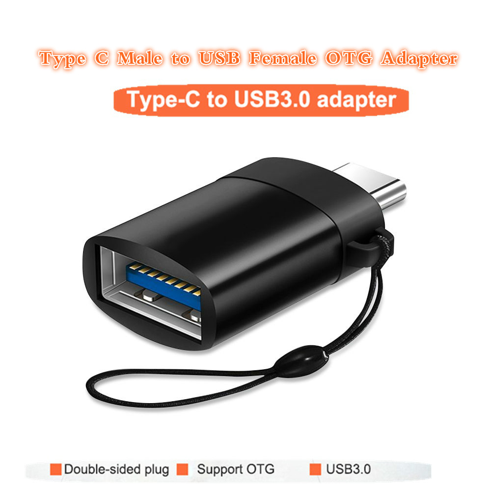 OTG Adapter Male Type-C To USB 3.0 Usb C Converter Type C Cable Adapter Tape C OTG For U Disk Mouse Keyboard Movie File Transfer