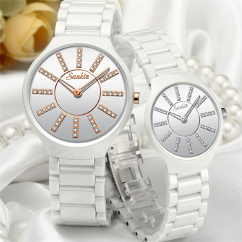 SUNKTA luxury women watches brand crystal fashion White Bracelet watches ladies watch waterproof watch women Relogio Feminino