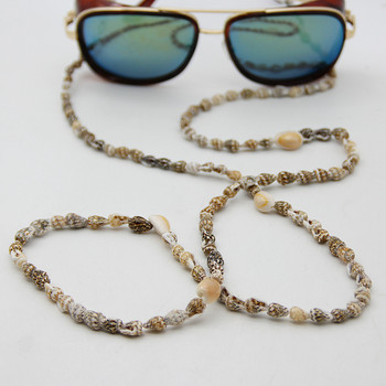 FishSheep New Seashell Conch Glasses Chain Sunglasses Eyewears Cord Holder Boho Natural Shell Beads Eyeglass Strap Rope Lanyard new boho gold conch shell chain presents