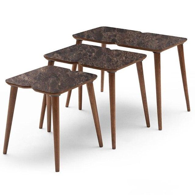3 PCs Modern Coffee Table  5