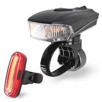 400 루멘 스마트 도로 자전거 전면 빛 USB 유도 손전등 자전거 MTB 자전거 후면 LED 조명 키트