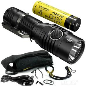 Image 1 - TOPSALE NITECORE MH23 Torch 1800LMs CREE XHP35 HD LED Mini Lamp Waterproof Flashlight 3500mAh Rechargeable Battery Free Shipping