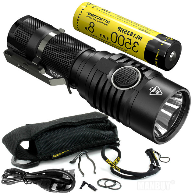 TOPSALE NITECORE MH23 Torch 1800LMs CREE XHP35 HD LED Mini Lamp Waterproof Flashlight 3500mAh Rechargeable Battery Free Shipping