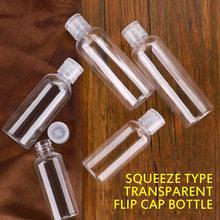 1 adet 5/10/30/50/80/120/200/250 Ml plastik şeffaf şişe kelebek kap makyaj aracı alt şişeleme kapaklı seyahat şişeleme