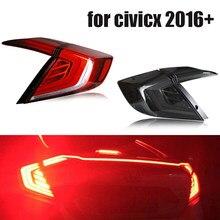 Feu arrière 12V LED pour voiture Hon da civ-ic, pour 10ème berline, feu de recul, de recul et de freinage, 2019, 2018