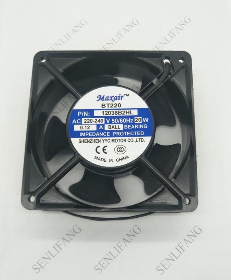 For BT220 BT 220 PN 12038B2HL Ultrasonic Welding Machine Axial Cooling Fan AC 220V 0.12A 20W 12038 120*120*38mm 2 Wires