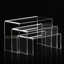 Акриловая витрина для обуви и сумок розничный держатель прозрачная